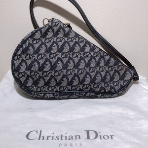 Dior Vintage Saddle Bag Denim/Gold